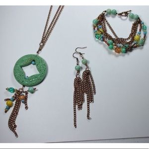 Jewelry - 💜🎀Copper Plated Turquoise Jewelry Set🎀💜